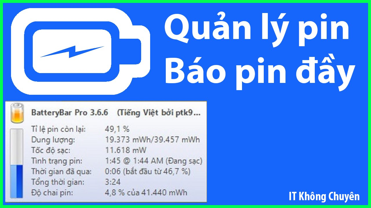 Phần mềm BatteryBar