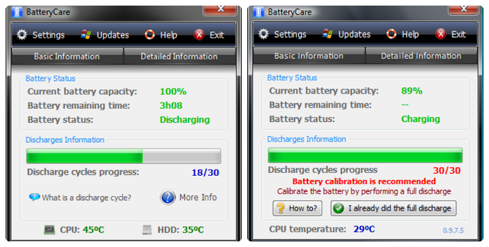 Phần mềm BatteryCare