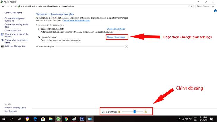 cách tăng độ sáng màn hình laptop