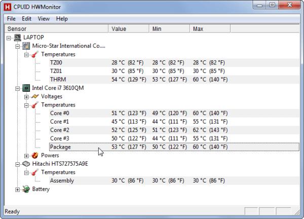 kiểm tra nhiệt độ HWM