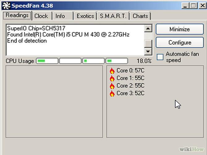 kiểm tra nhiệt độ laptop speedfan