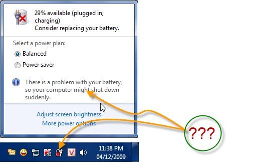 lỗi pin laptop sạc không vào plugged in not charging