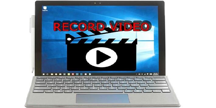 quay video bằng laptop