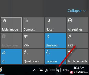 tăng độ sáng màn hình laptop