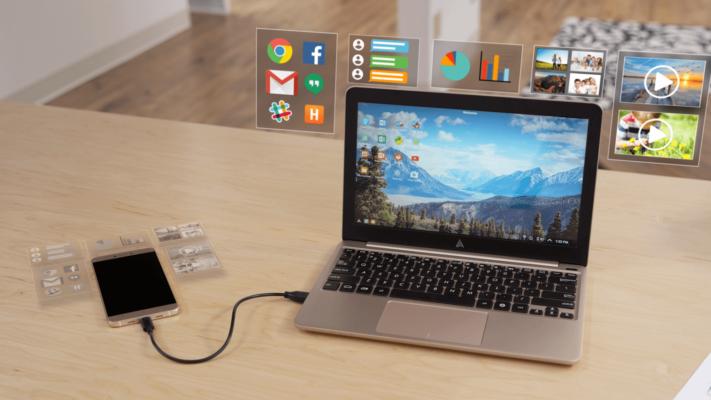 chiếu màn hình android lên laptop bằng cáp